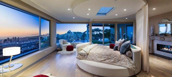 Потрясающий дизайн спальни с круглой кроватью (9)