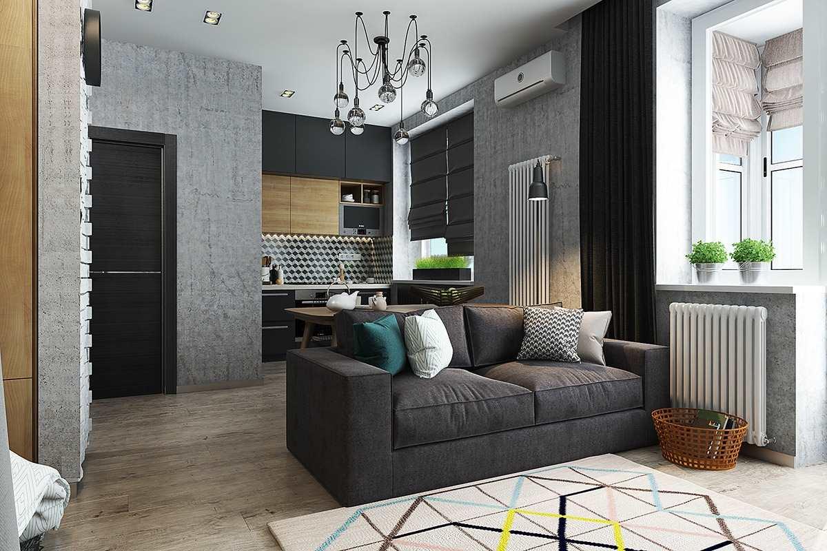 Дизайн маленькой квартиры 40 кв (3)