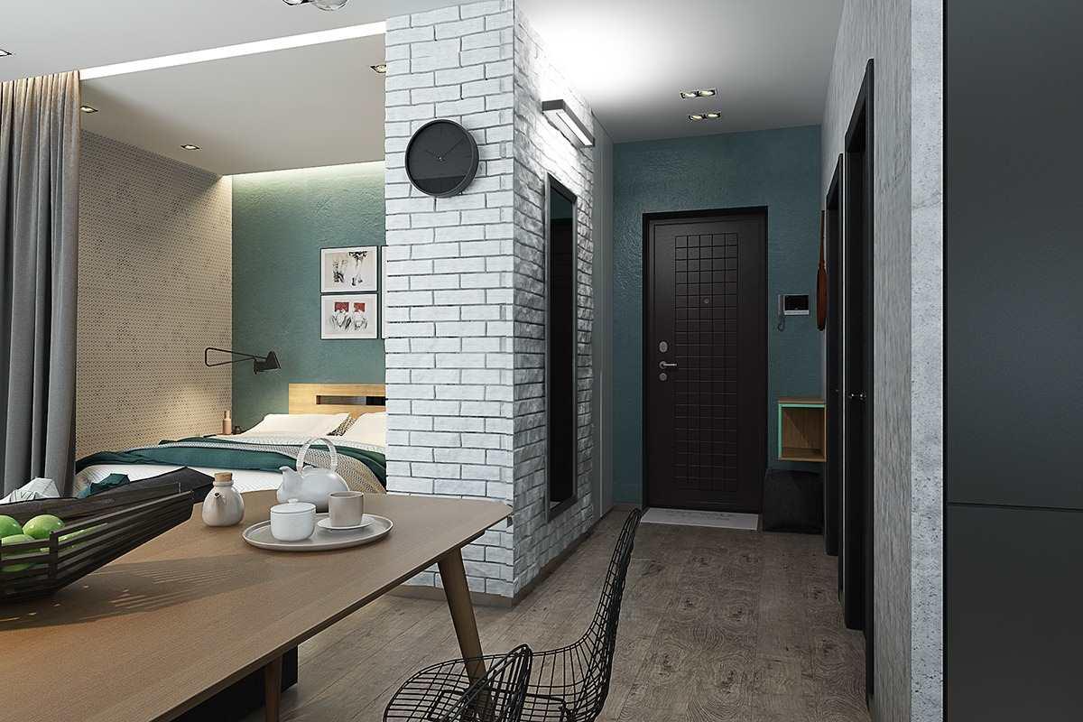 Дизайн маленькой квартиры 40 кв (8)