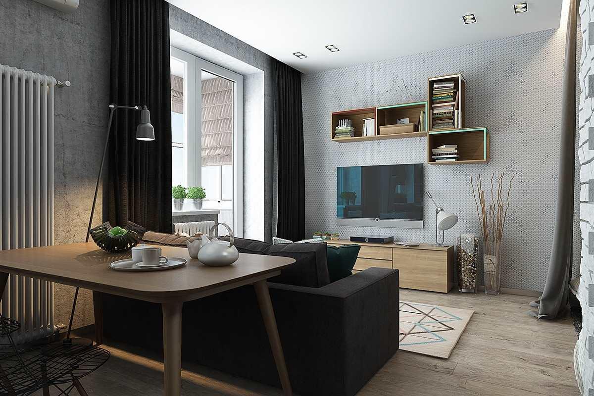 Дизайн маленькой квартиры 40 кв (9)