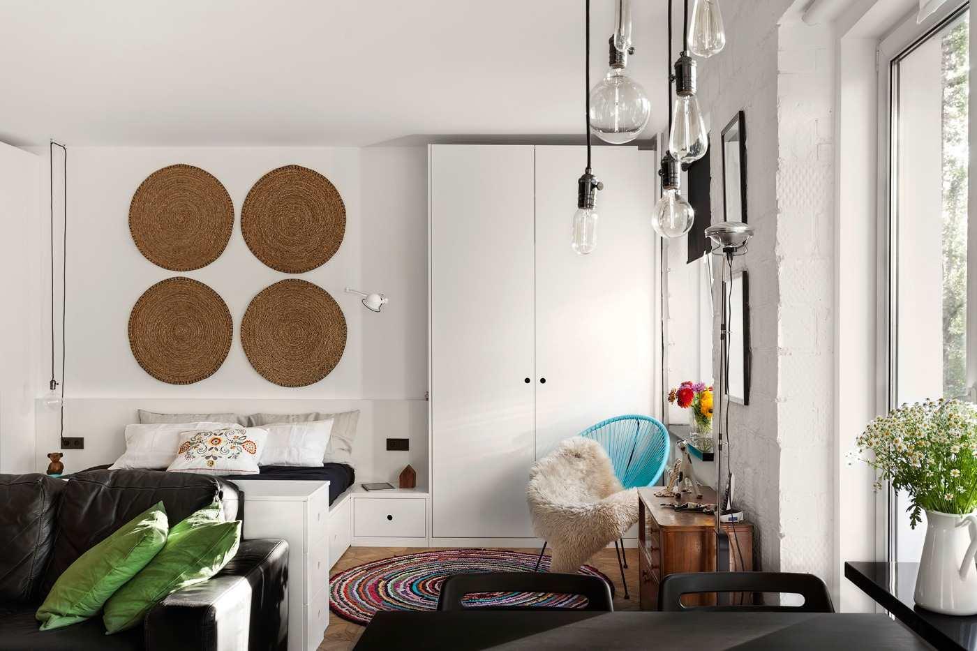 Дизайн однокомнатной квартира 43 кв.м. с фото (3)