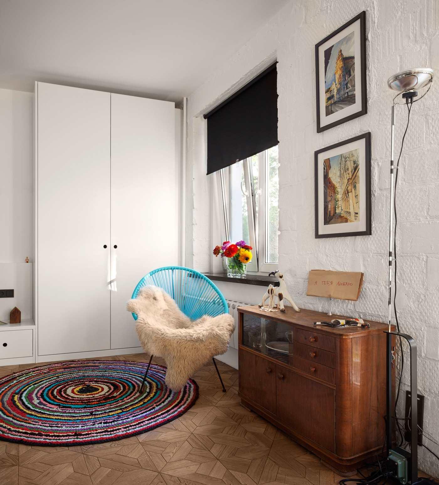 Дизайн однокомнатной квартира 43 кв.м. с фото (7)