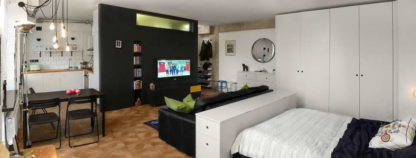 Дизайн однокомнатной квартира 43 кв.м. с фото (8)