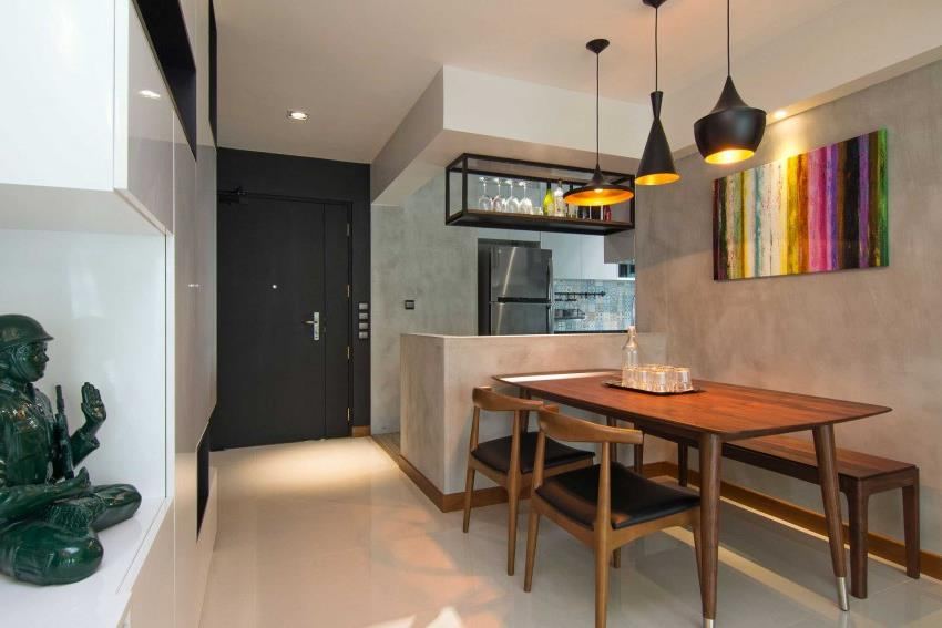 Дизайн стильной современной квартиры в Сингапуре (1)