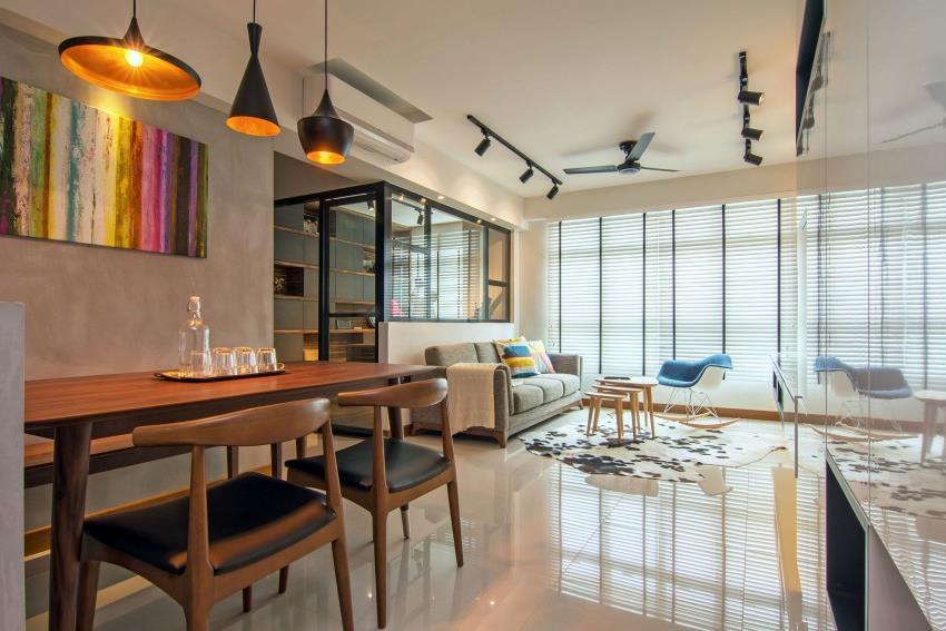 Дизайн стильной современной квартиры в Сингапуре (10)