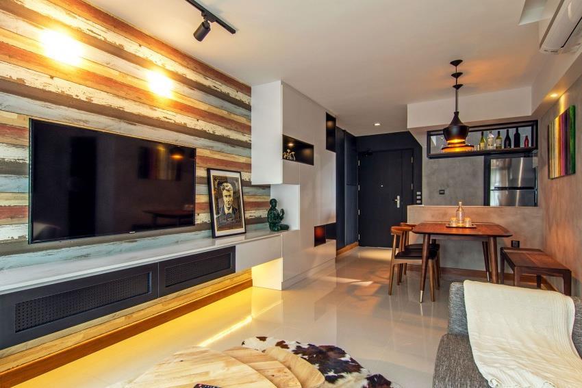 Дизайн стильной современной квартиры в Сингапуре (12)