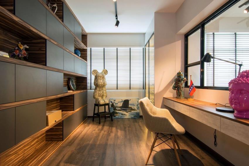 Дизайн стильной современной квартиры в Сингапуре (13)