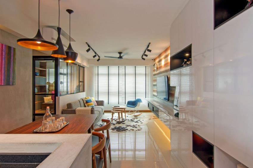 Дизайн стильной современной квартиры в Сингапуре (18)
