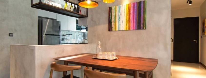 Дизайн стильной современной квартиры в Сингапуре (19)