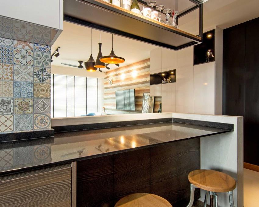 Дизайн стильной современной квартиры в Сингапуре (8)