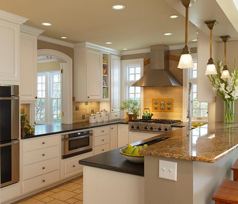 Дизайнерские идеи для небольшой кухни (7)