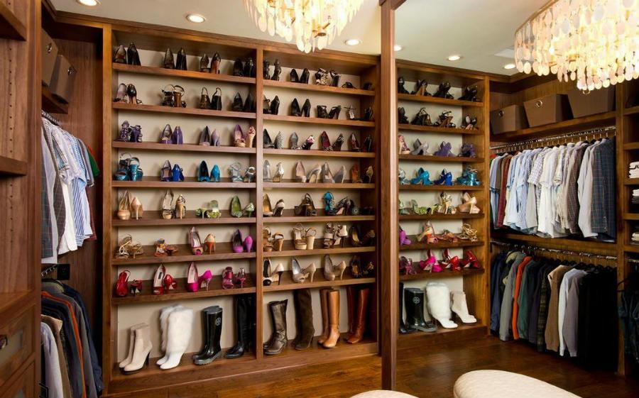 Эстетичность и удобства гардеробной комнаты1