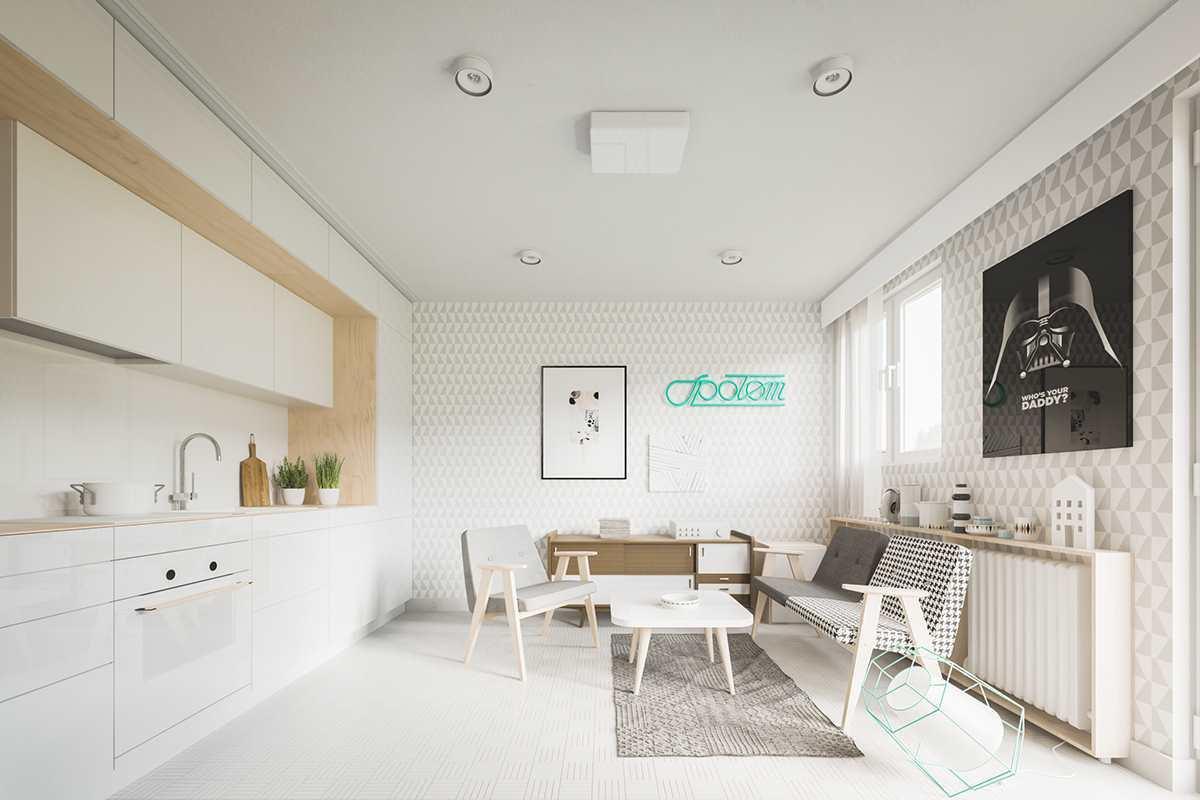 маленькая современная студия 20 кв.м (8)
