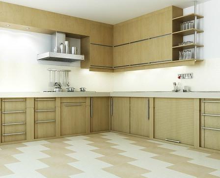 плитка по диагонали на кухне