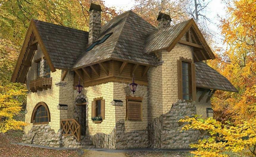Отделка фасада дома под камень фото