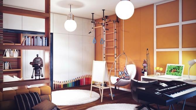 качели в интерьере квартиры (10)