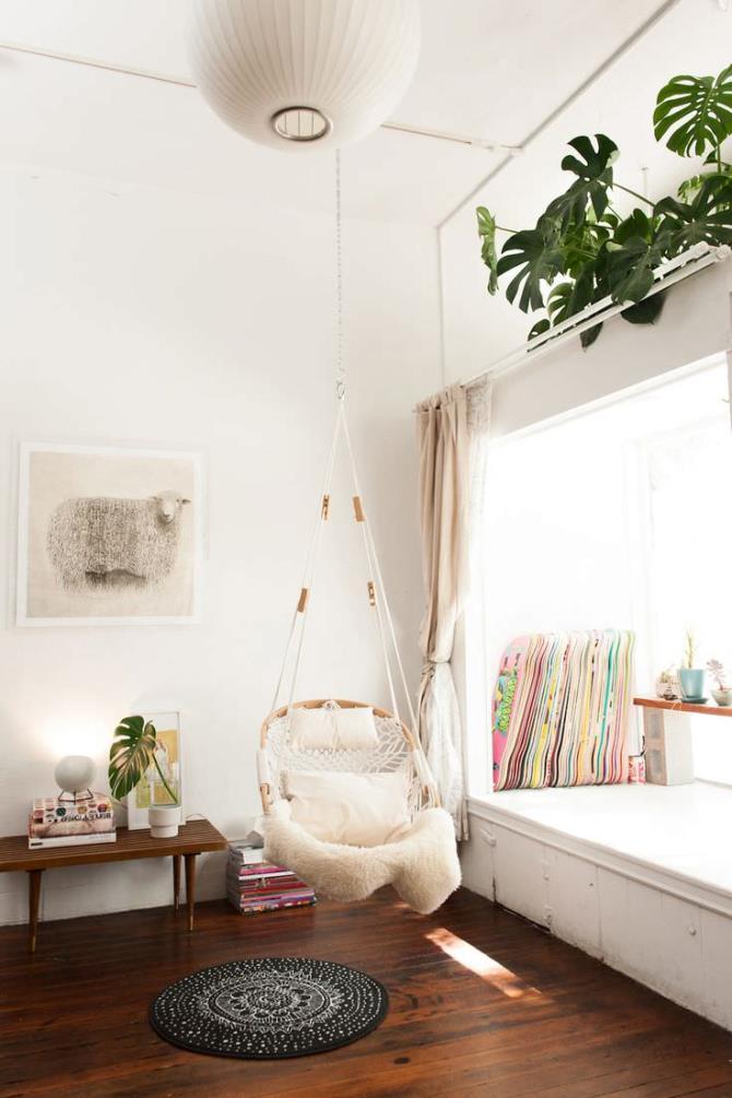 качели в интерьере квартиры (6)