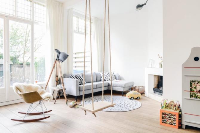 качели в интерьере квартиры (61)