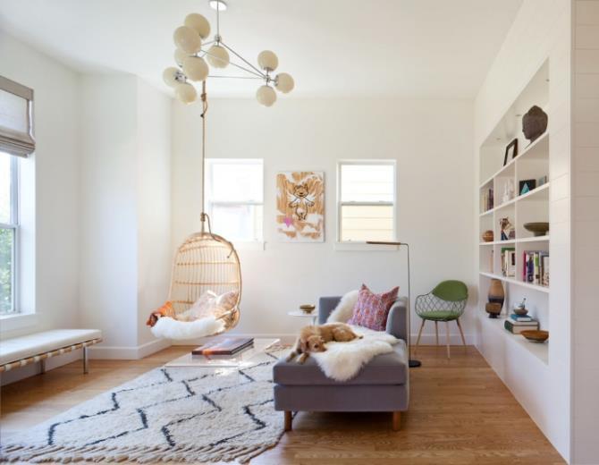 качели в интерьере квартиры (67)