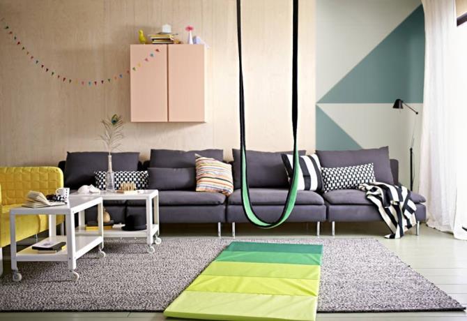 качели в интерьере квартиры (7)