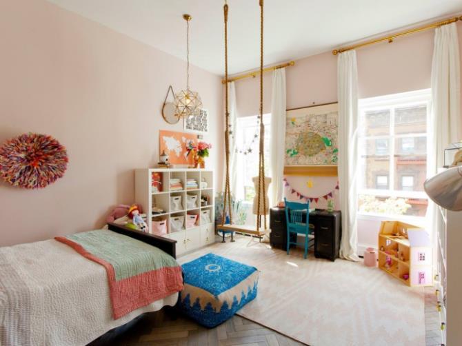 качели в интерьере квартиры (82)