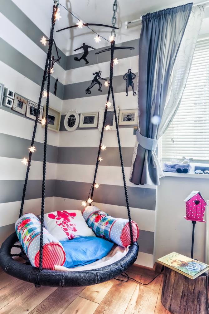 качели в интерьере квартиры (87)