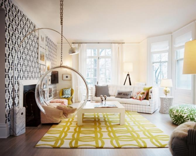 качели в интерьере квартиры (92)