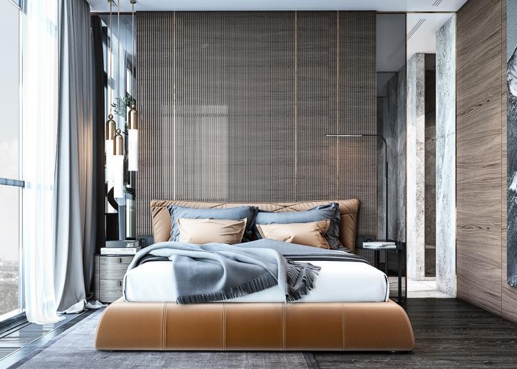 25 красивых примеров акцентной стены в спальне (10)