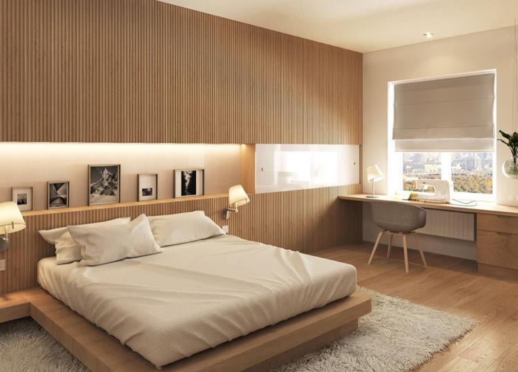 25 красивых примеров акцентной стены в спальне (11)