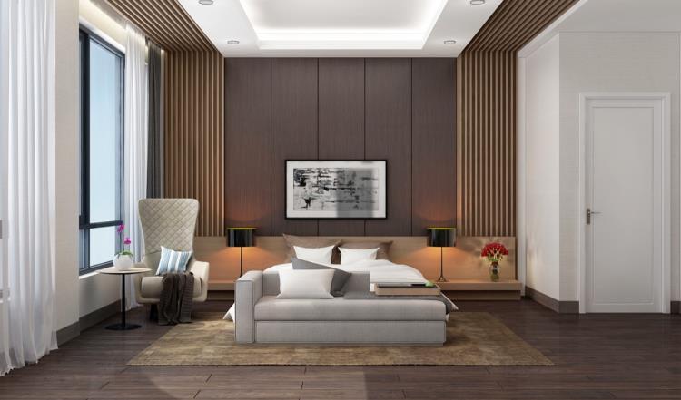 25 красивых примеров акцентной стены в спальне (13)