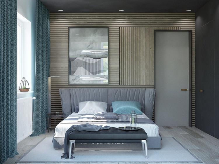 25 красивых примеров акцентной стены в спальне (14)