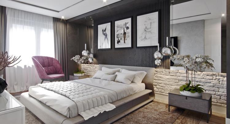 25 красивых примеров акцентной стены в спальне (15)