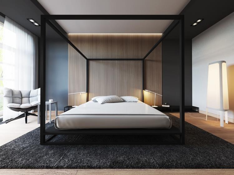 25 красивых примеров акцентной стены в спальне (18)