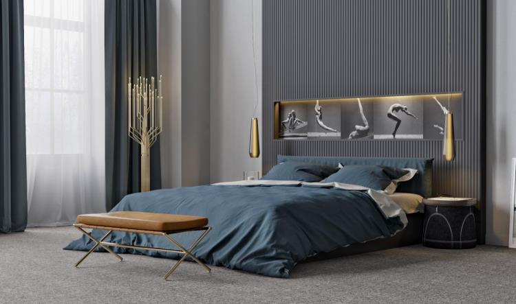 25 красивых примеров акцентной стены в спальне (19)