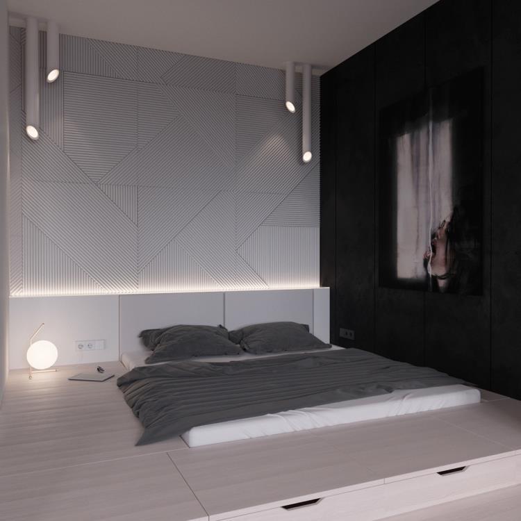 25 красивых примеров акцентной стены в спальне (2)