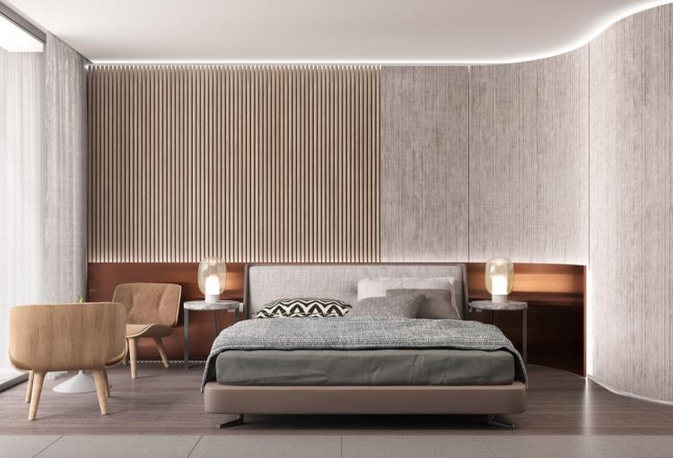 25 красивых примеров акцентной стены в спальне (21)