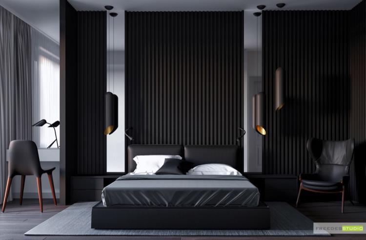 25 красивых примеров акцентной стены в спальне (22)