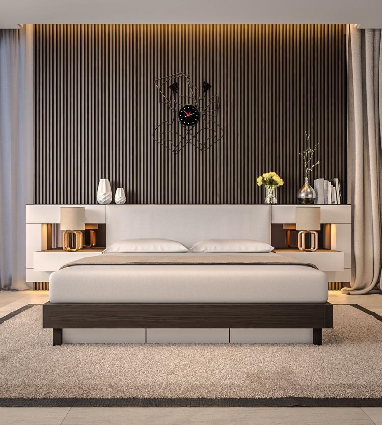 25 красивых примеров акцентной стены в спальне (25)