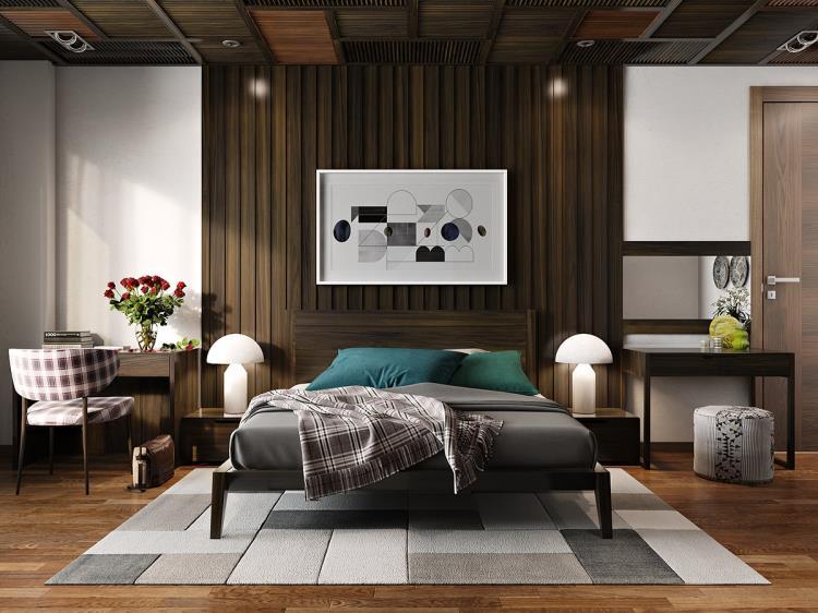 25 красивых примеров акцентной стены в спальне (3)