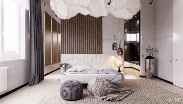 25 красивых примеров акцентной стены в спальне (4)