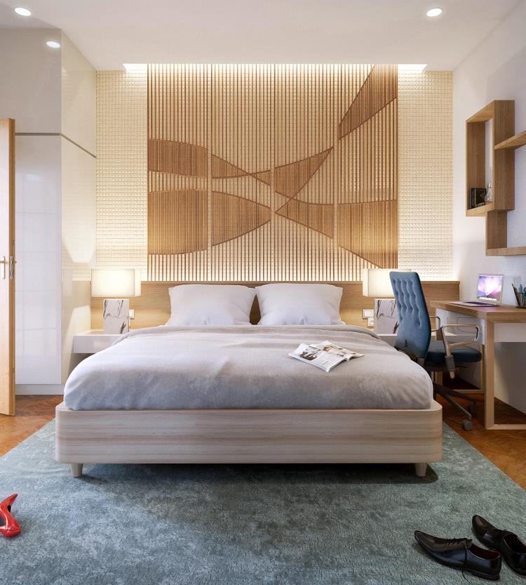 25 красивых примеров акцентной стены в спальне (6)