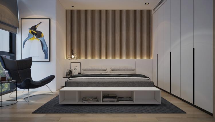 25 красивых примеров акцентной стены в спальне (7)