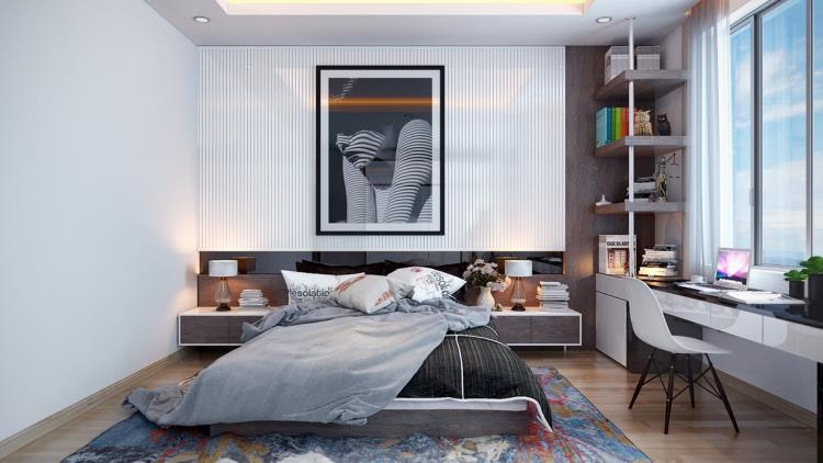 25 красивых примеров акцентной стены в спальне (8)
