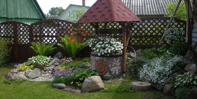 садовый колодец на даче