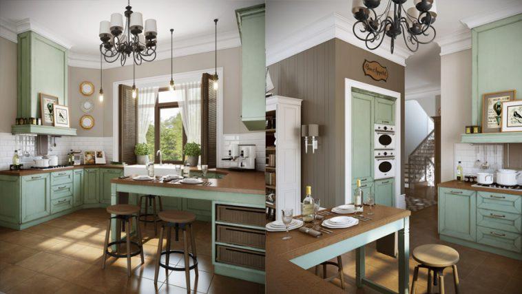 современная кухня столовая стиль
