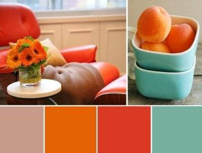 Сочетание оранжевого цвета интерьере (1)