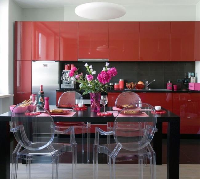 с чем сочетать красный цвет в интерьере (1)