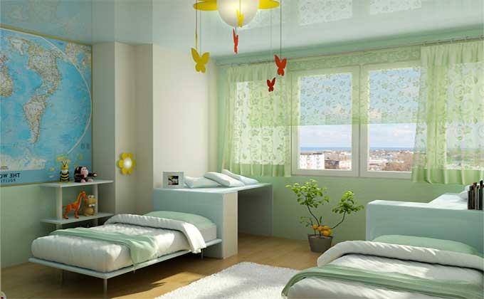 Дизайн-интерьера-детской-комнаты-для-двоих-детей