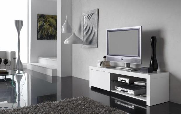 Тумба под телевизор в современном стиле фото (2)