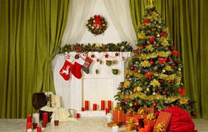 Украшение-дома-на-новый-год-елка